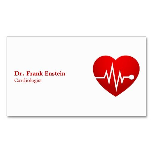 bold CARDIOLOGIST Business Card Business cards, Card templates - business card template for doctors