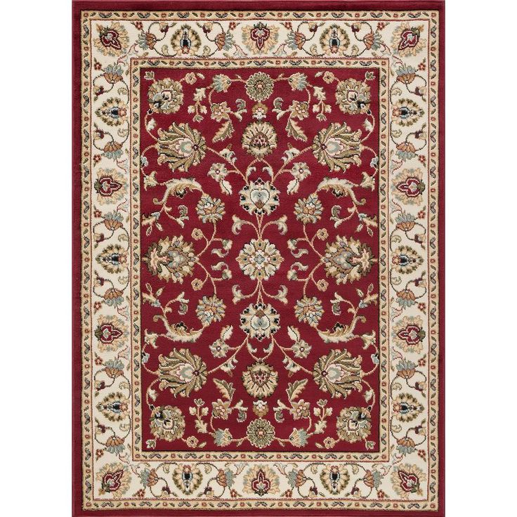 Hampton Traditional Red 9 Ft 3 In X 12 Ft 6 In Area Rug Traditional Area Rugs Oriental Area Rugs Area Rugs