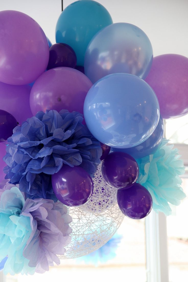 love this: Birthday Parties, Pompom, Tissue Paper Flower, Color, Shower, Parties Ideas, Balloon, Pom Pom, Parties Decor