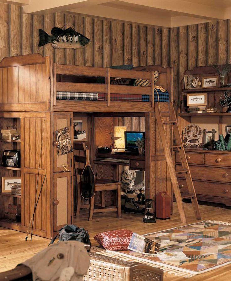 Boys Cabin Theme Bedroom