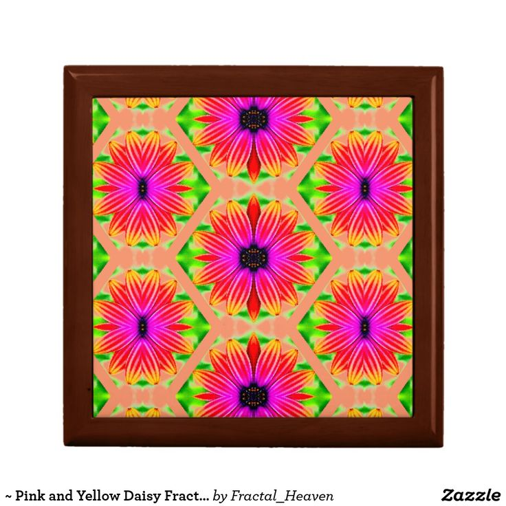 ~ Pink and Yellow Daisy Fractal ~