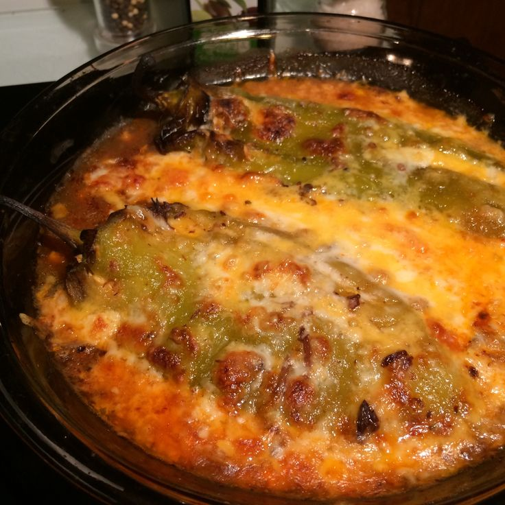 Baked Chili Rellanos recipe for HCG Phase 3. Cheesy chili rellano recipe for P3 of the HCG Diet. Quick and easy to make and baked not fried. Delicious!