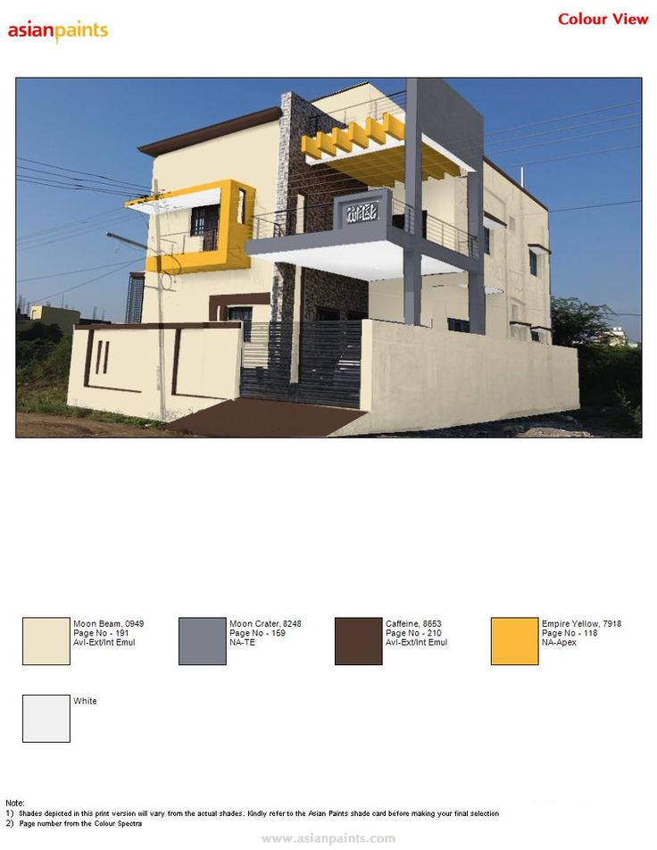 Front Elevation Colour Combination : Asian paints exterior colour combinations
