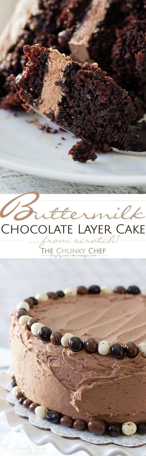 Buttermilk Chocolate Layer Cake   Posted By: DebbieNet.com
