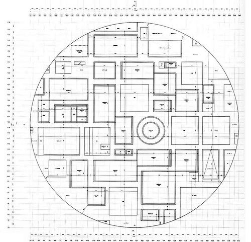 SANAA, 21st century museum of contemporary art. - concept: outer circular form (it brings it up, closer to the skylike forms) and inner ortogonal division (Euclid perception of the world)