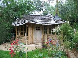 quirky wooden shed