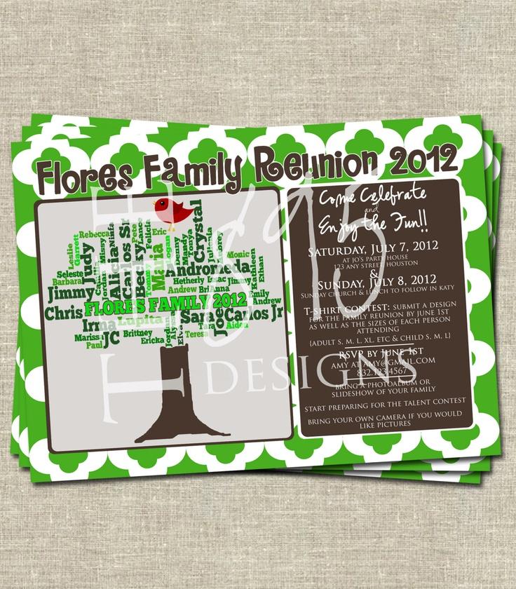 24 best Family Reunion images on Pinterest Family gatherings - best of sample invitation letter gathering