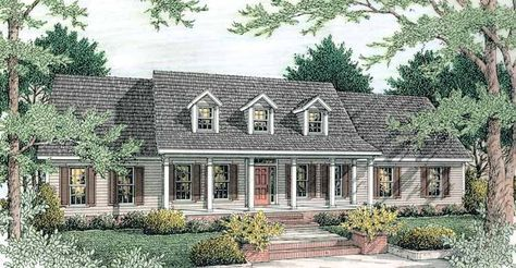 Greek Revival House Plan with 1865 Square Feet and 3 Bedrooms from Dream Home Source | House Plan Code DHSW46961