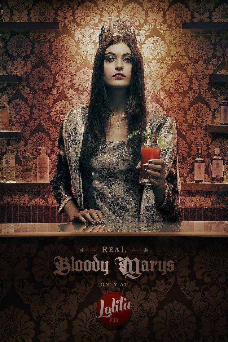 Lolita Pub: Drinks, Real Bloody Marys. Agency: Propeg, Salvador, Brazil }-> repinned by www.BlickeDeeler.de