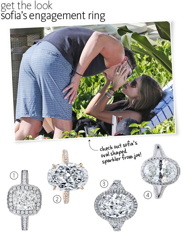 Sofia Vergara Wedding Ring: 17 Best Images About Oval Cut Diamond Engagement Rings On