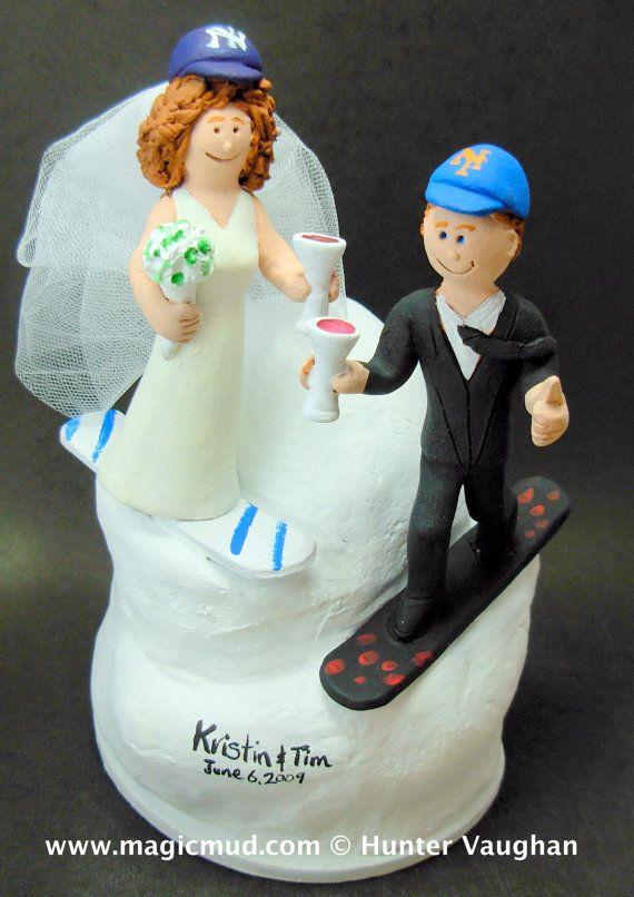 SnowBoarder's Wedding Cake Topper