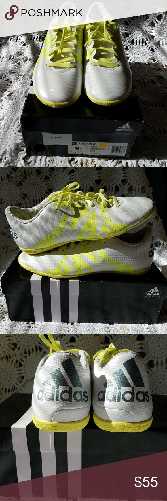adidas indoor soccer shoes adidas indoor soccer shoes used once in perfect condition. adidas Shoes Athletic Shoes