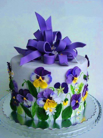 Spring Garden Cake...perfect for grandma Lily 's birthday