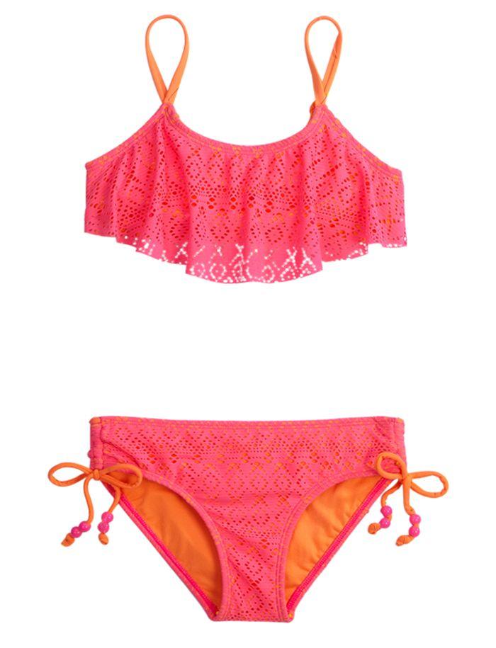 a0bc06711387d Crochet Bikini Swimsuit | Bikinis | Swimsuits | Shop Justice | We ...