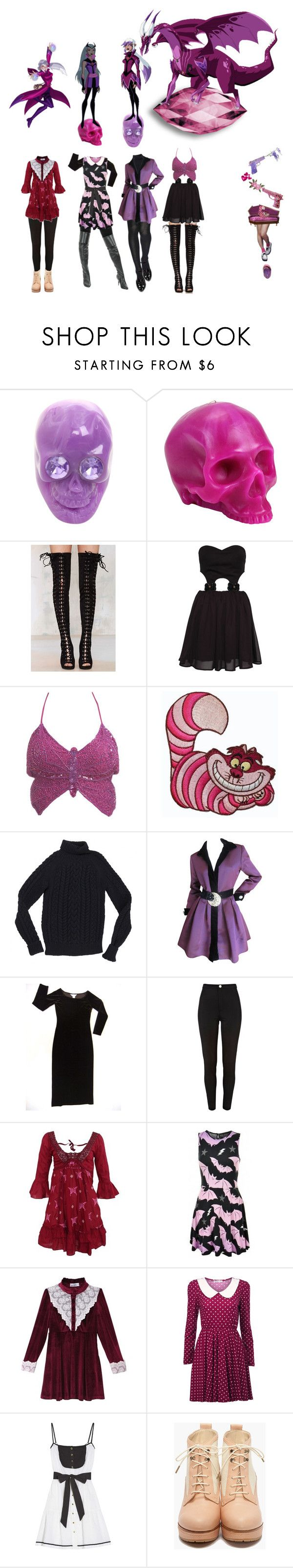 """Charmcaster"" by everysimpleplan ❤ liked on Polyvore featuring D.L. & Co., Jeffrey Campbell, Paprika, Wet Seal, Disney, INC International Concepts, Sugarbone, Isabel Marant, Oscar de la Renta and River Island"