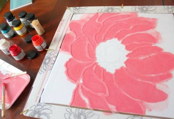 Learn how to paint a DIY flower accent pillow using an accent pillow stencil kit from Cutting Edge Stencils. http://www.cuttingedgestencils.com/accent-pillow-stencil-kits.html