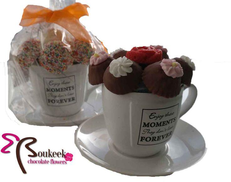 Bosje bloemen bij de koffie? Natuurlijk kan dat met Boukeek. Deze kopjes gaan per 4 en kunnen geheel naar wens worden samengesteld voor € 8,50 per stuk.  Truffels, brownies, koekjes.. alles is mogelijk! Kopjes kunnen afwijken van de foto echter de aantallen blijven gelijk.  http://www.boukeek.nl/product/cuppies/