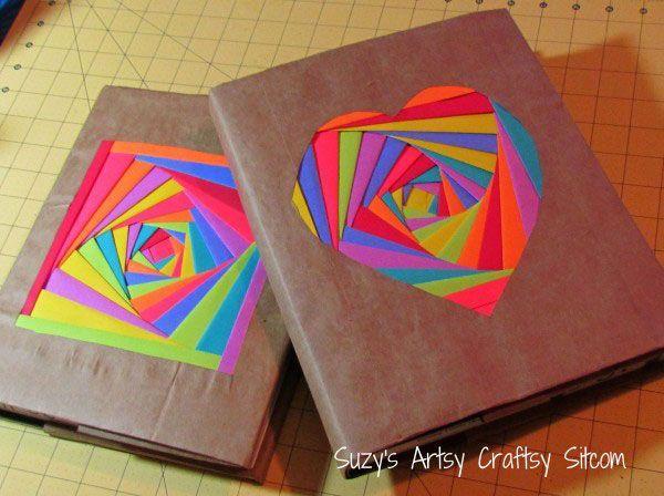 decoracion de cuadernos con hojas de colores paso a paso - Buscar con Google