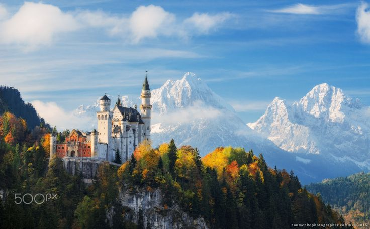 Germany. Bavaria. Neuschwanstein Castle in autumn by ⭐Naumenkophotographer⭐ on 500px