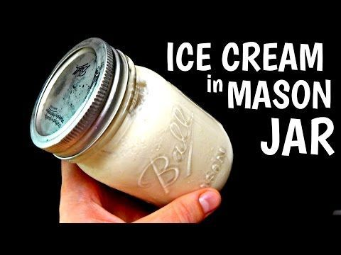 He Makes Ice Cream In A Mason Jar...Who Says You Have To Have An Ice Cream Maker To Make Good Ice Cream? - DIY Joy