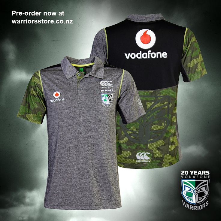 2015 Vodafone Warriors training polo #WarriorsForever #warriors #training #polo #merchandise