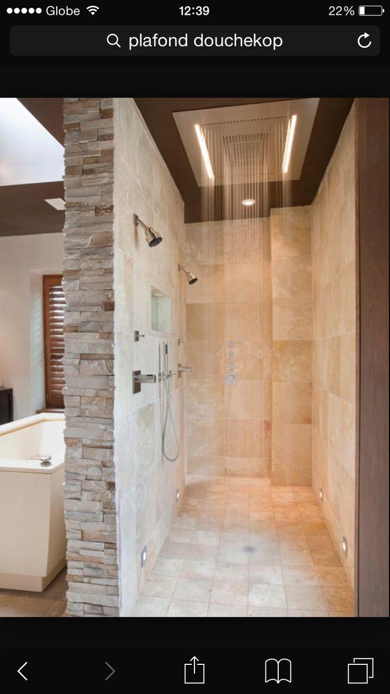 Inloop douche met plafond douche