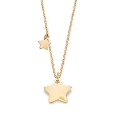 Star necklace by Lilou : 78£ #lilou #christmas #present #star #platedgold