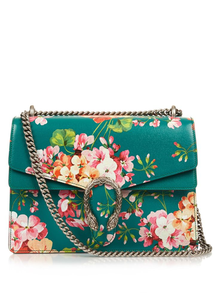 Dionysus Blooms-print medium leather bag | Gucci | MATCHESFASHION.COM