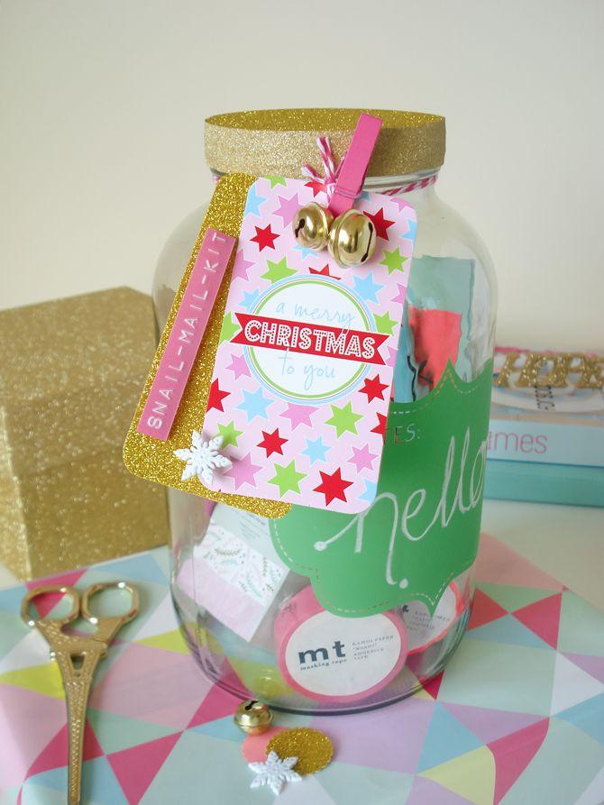 Olive Finch tag adorning creative guru Nadia van der Mescht's Console bottle gift jar.