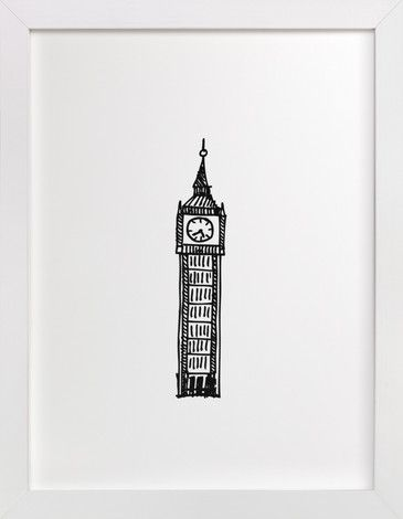 Big Ben London by Phrosné Ras at minted.com