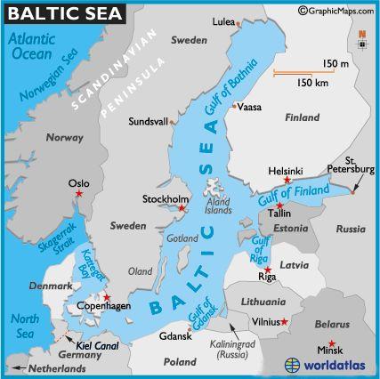 Map of Baltic Sea ~ Lithuania