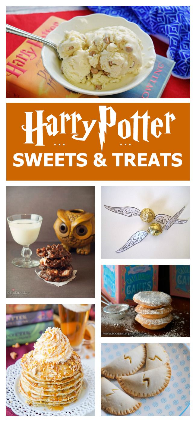 15 Harry Potter Treats - I love the lightning on the pumpkin pasties!