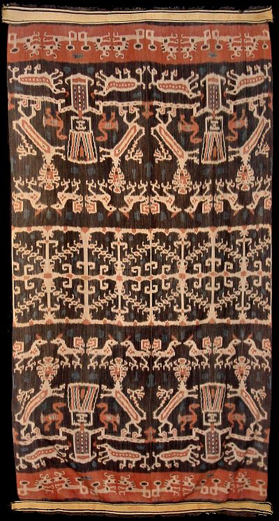 Hinggi blanket warp Ikat from East Sumba, 1920- 40 Indonesia