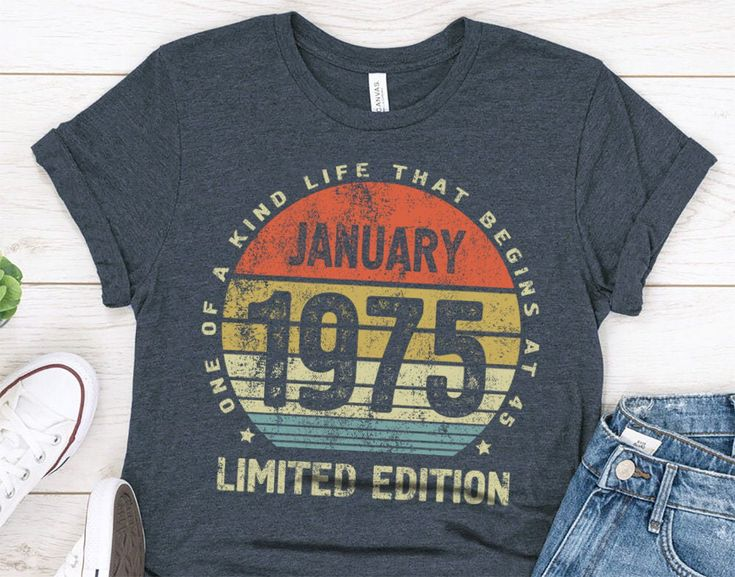 45th birthday gift idea shirt for her or him born in