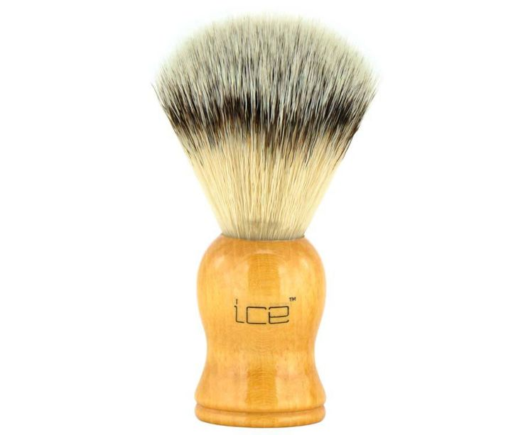 The Ice Wood Synthetic Shave Brush. With its incredible lathering ability and luxurious softness, its tough to believe this brush is made of 100% animal-friendly synthetic bristles. Available at House of Knives.