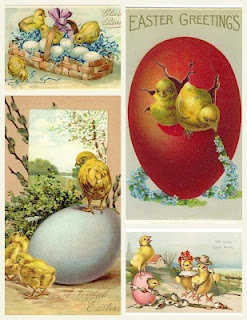 Easter chicks collage