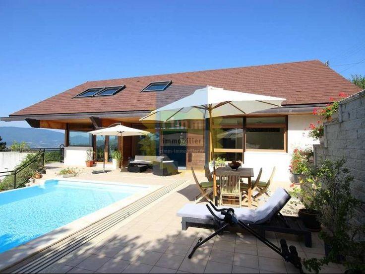 A vendre superbe maison contemporaine avec vue panoramique for Maison piscine a debordement
