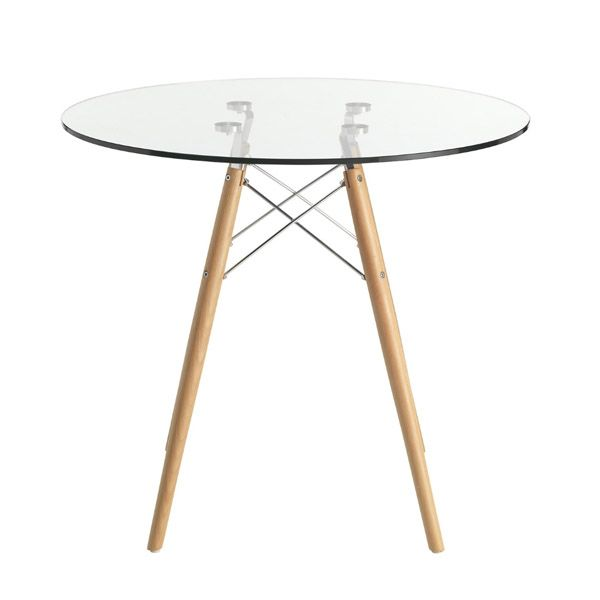 Eames Glass Table Style (70 cm)