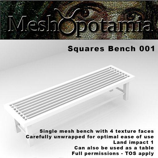 Meshopotamia Squares Bench 001 w AO textures