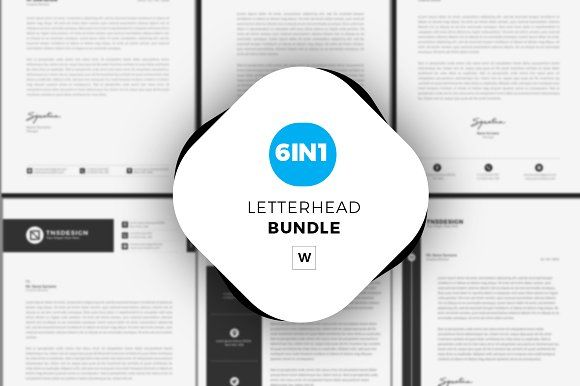 Letterhead Bundle by tnsdesign on @creativemarket