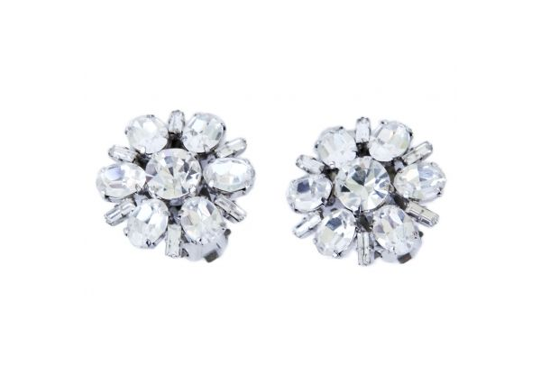 Pair Of Austrian Rhinestone Snowflake Earrings These gorgeous earrings feature a stunning rhinestone snowflake cluster embellished with additional high quality rhinestones. http://www.charlieford.com