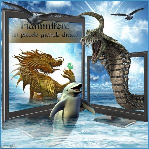 Fiammifero un piccolo grande drago