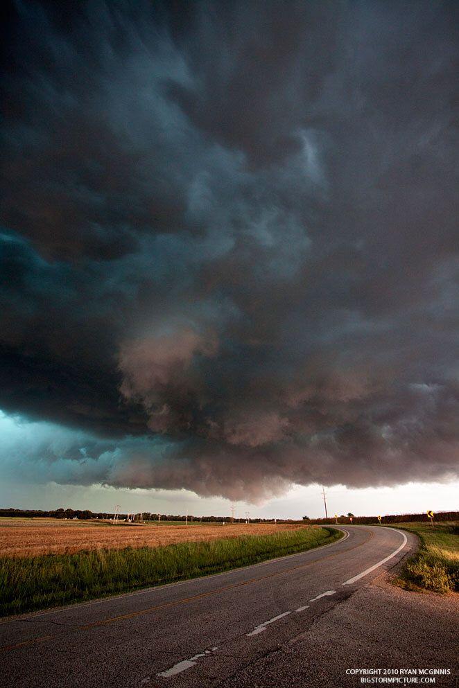 Storm Highway in Kansas. USA. By Ryan McGinnis.