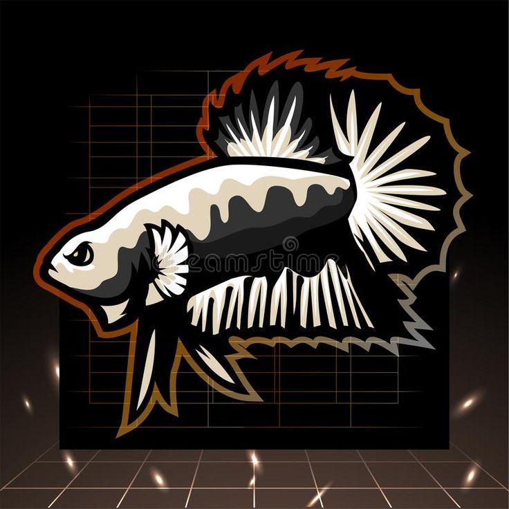 Illustration About Black Samurai Betta Fish Mascot Esport Logo Design For Electronic Sport Gaming Logo Or Twitch And T Shirt Vect In 2021 Betta Fish Logo Betta Fish