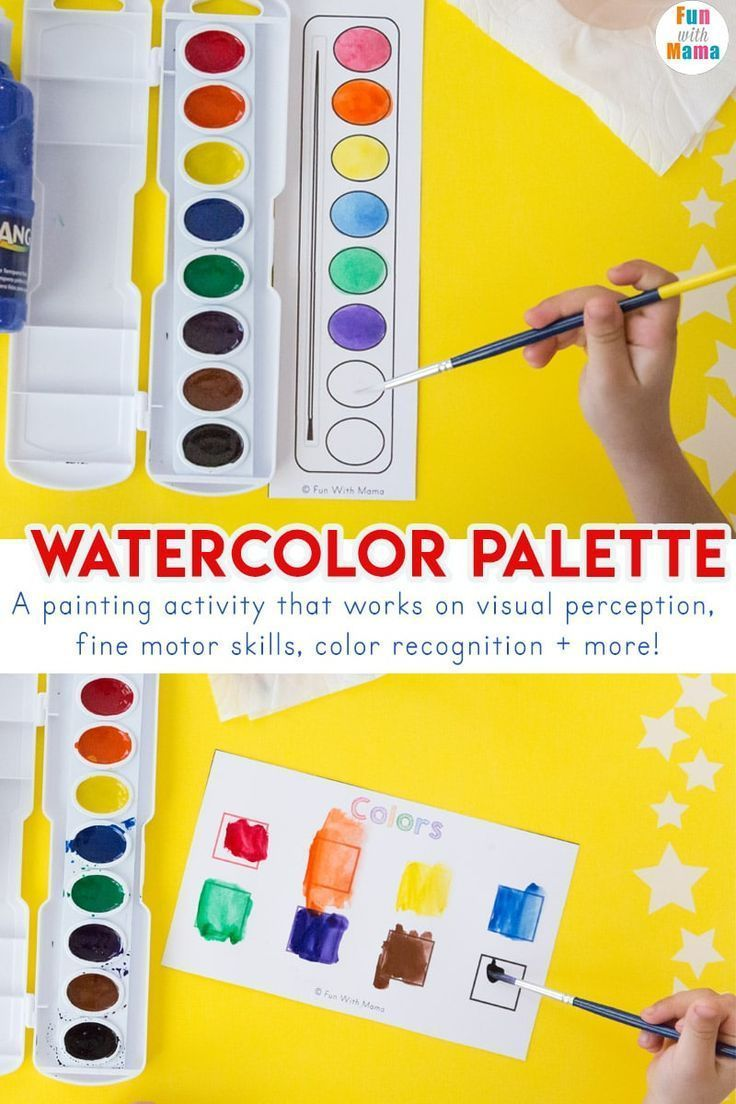 Watercolor Palette Painting Activity For Preschoolers Painting