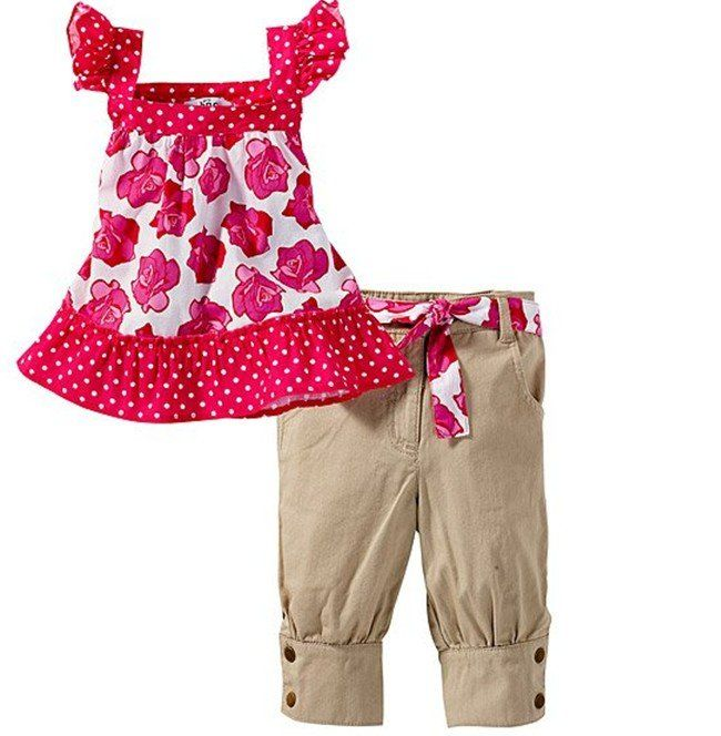 cute baby clothes for girls | ... cute baby girl's clothing set(top dress+pants),children clothes set