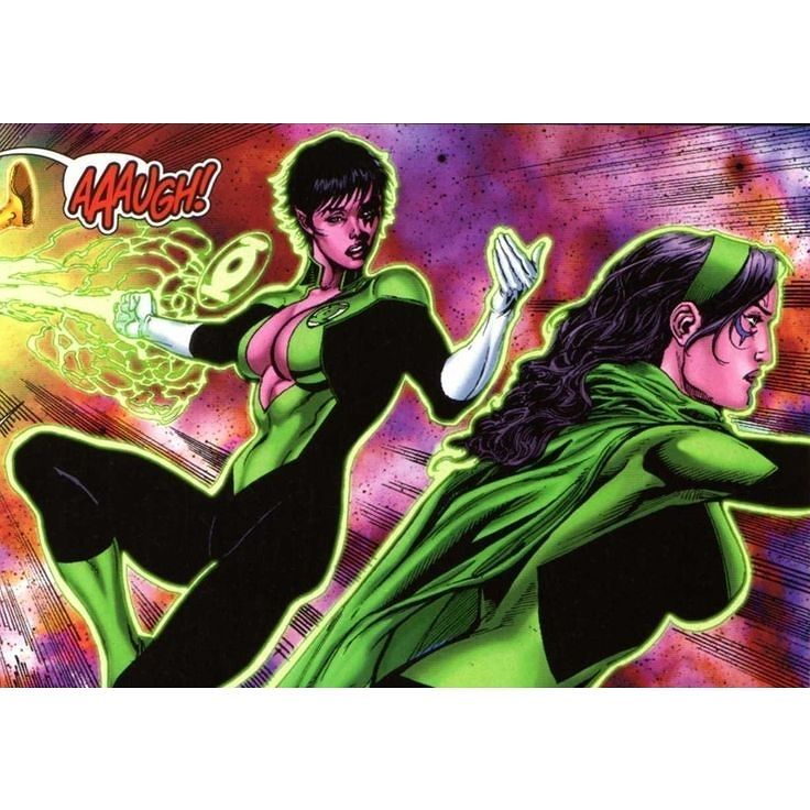 Green Lanterns Soranil Natu & Princess Iolande in Sinestro # 7  Art  by Ethan Van Sciver Geraldo Borges & Jason Wright Source by superherobook #superheroencyclopedia by superheroencyclopedia.com