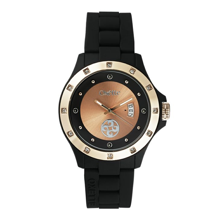 Oxette Total Black  Pop Watch - Available here http://www.oxette.gr/rologia/s.steel-rose-gold-plated-pop-black-watch-651l-1/     #oxette #OXETTEtimewear #OXETTEwatch #watches