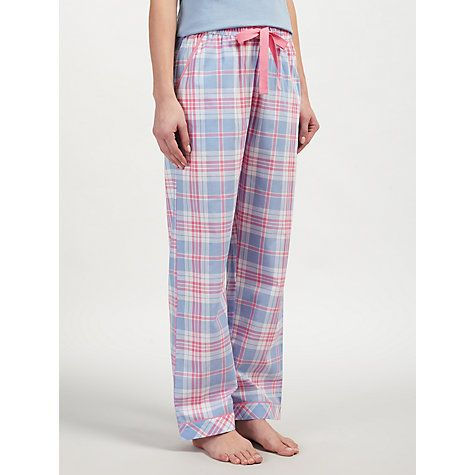 Buy John Lewis Abbey Check Pyjama Bottoms, Ivory/Pink Online at johnlewis.com