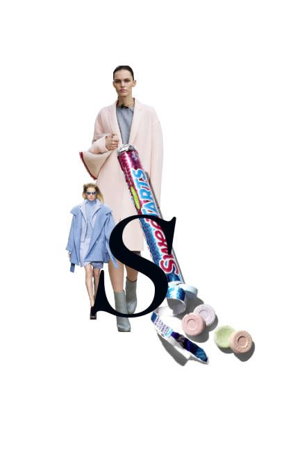 SWEETARTS Remember the allure as a kid? While SweeTarts looked unassuming, the candy packed a mischievously sour punch. Fall runways played with a similar dichotomy, realizing powerful, womanly, silhouettes in demure pastels.